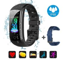 Fitness Tracker Activity Tracker Watch Waterproof Activity Tracker Smart Watch Remote Photography Heart Rate Blood Pressure Blood Oxygen Monitor Step Calorie Counter Pedometer for Women Men Kids