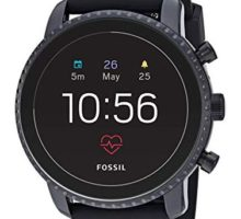 Fossil Men Gen 4 Explorist HR Heart Rate Stainless Steel and Silicone Touchscreen Smartwatch Color Black