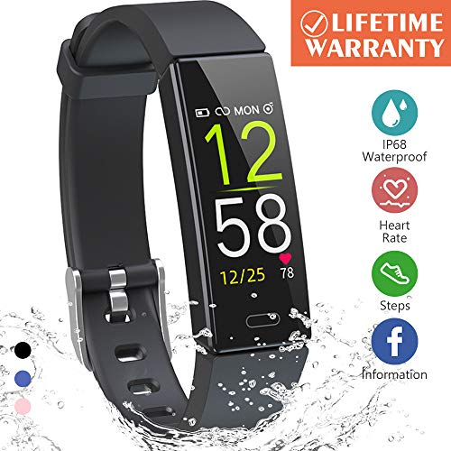 Kberho Fitness Tracker HRActivity Tracker Watch with Heart Rate Monitor Sleep Monitor Smart Fitness Band with Step Counter Calorie Counter Watch Waterproof Pedometer Watch for Kid Women and Men