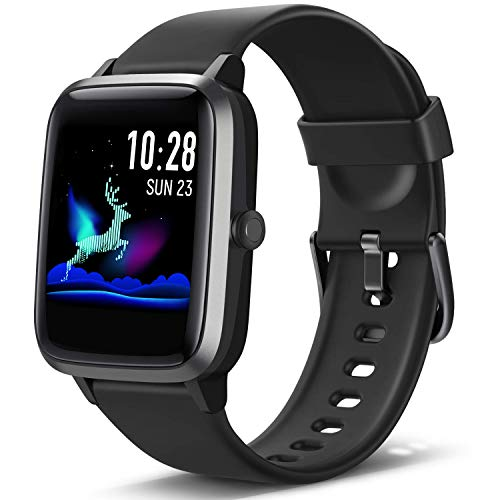 Lintelek Smart Watch Full Touch Screen Smartwatch 13 Inch Fitness Tracker with HR Monitor Sleep Tracker Stopwatch IP68 Waterproof Fitness Watch Compatible with iOS Android for Men Women Kids