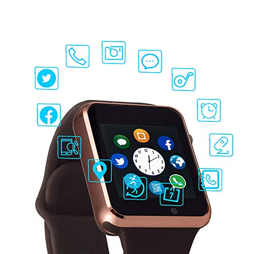 Smart Watch Color Touch Screen Bluetooth Smart Watch Sports Smart Watch TF SIM Card Slot Smart Watch Multi Function Smart Watch Compatible with Samsung Android iPhone iOS Kids Women Men