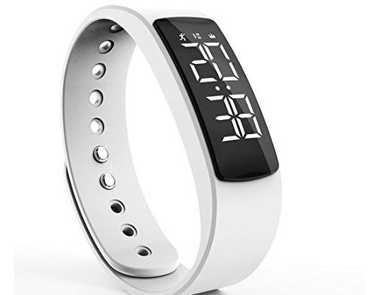 synwee Fitness Tracker Watch BandNonBluetooth Smart Bracelet Walking Pedometer Watch Step Counter Calorie Burned Distance Alarm Timer for Kids Teens Adult Men Women(White)