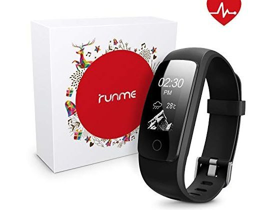 runme Fitness Tracker with Heart Rate Monitor Activity Tracker Smart Watch with Sleep Monitor IP67 Water Resistant Walking Pedometer with Call SMS Remind for iOS Android