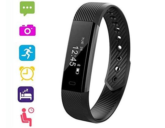 VeeEx Fitness Tracker Activity Tracker Bluetooth 40 Smart Bracelet as Step Counter Sleep Quality Monitor Pedometer Watch for iPhone X 8 7 6 SE iPad Samsung Galaxy S9 S8 S7
