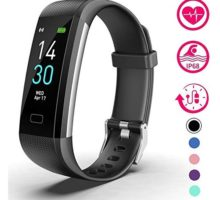 Vabogu Fitness Tracker HR with Blood Pressure Heart Rate Monitor Pedometer Sleep Monitor Calorie Counter Vibrating Alarm Clock IP68 Waterproof for Women Men