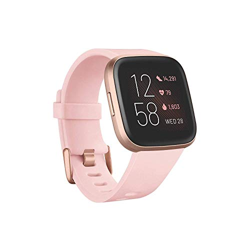 Fitbit Versa 2 Health & Fitness Smartwatch with Heart Rate Music Alexa Builtin Sleep & Swim Tracking Petal Copper Rose One Size